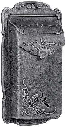 Special Lite Floral Cast Aluminum Vertical Wall Mount Mailbox | seattleluxe.com