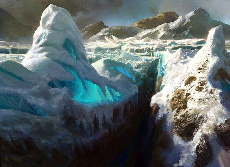 Image result for mtg snow land art