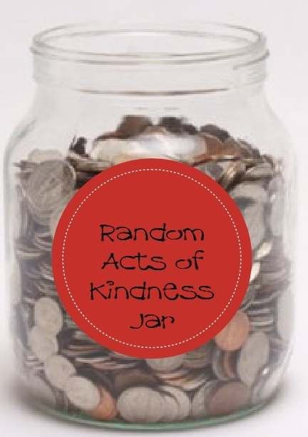 Put your change in a jar and save it up to use for Random Act of Kindness!