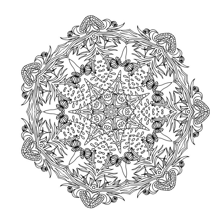 Coloring book Dream with Mandalas Design 20