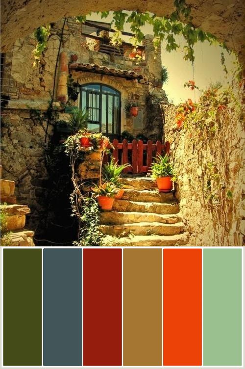 Color Themes / Paint Chips - Tuscan Tones