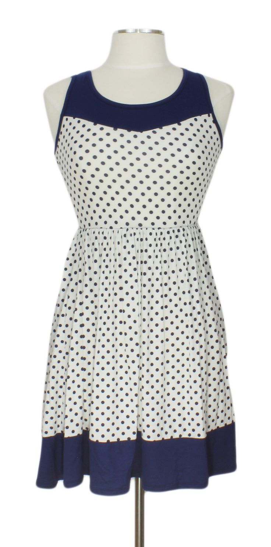 C'est La Vie Dress @ Ever Rose #polkadots #retro #dress #blue #white