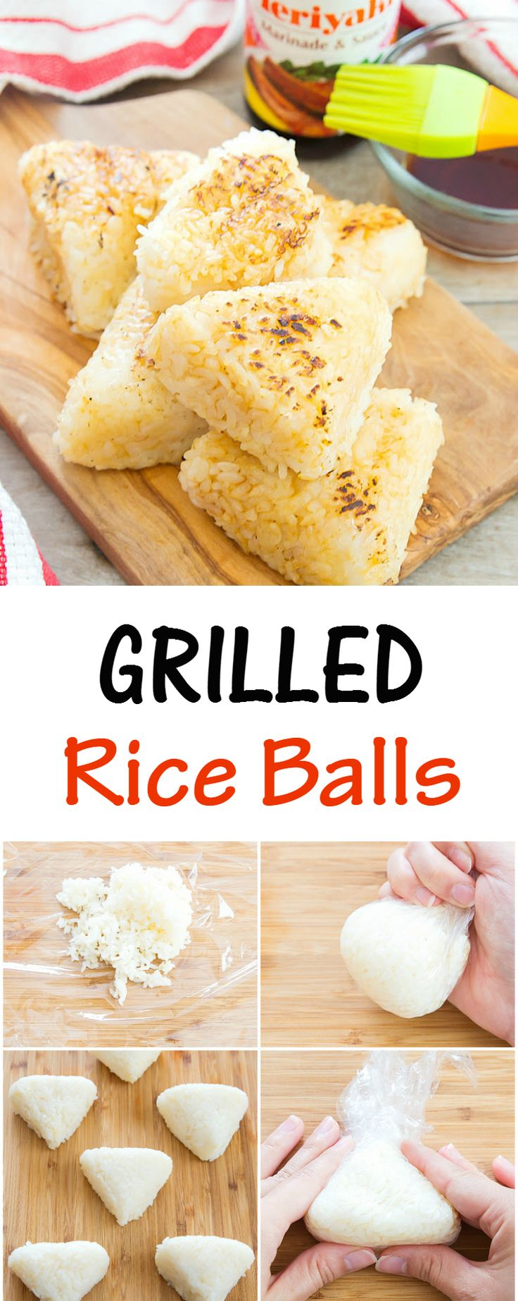 Grilled Teriyaki Rice Balls. An easy and unique item to add to your summer bbq menu. #ad