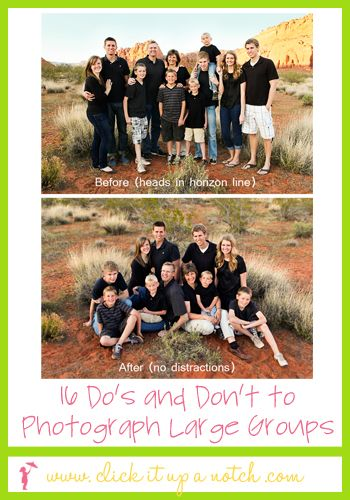 16 dos and don'ts to photograph large groups: Large Group Photography, Photographers Large, Photo Tips, Families Photo, Families Pics, Group Pictures, 16 Dos, Large Families, Photography Pos