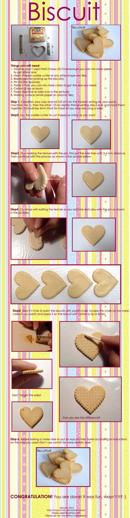 clay polymer biscuits..could come in handy someday?