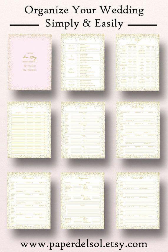 printable wedding planner wedding planner printable use these