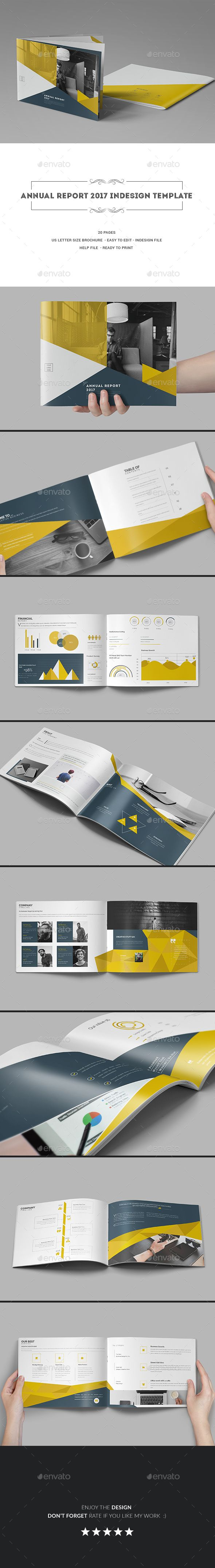 Annual Report 2017 InDesign Template - Corporate Brochures