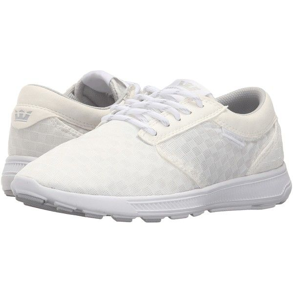 Supra Hammer Run (White/White 2) Women's Skate Shoes (740 MXN) ❤ liked on Polyvore featuring shoes, athletic shoes, white, supra footwear, mesh running shoes, breathable running shoes, lightweight athletic shoes and white lace up shoes