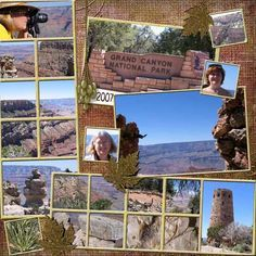 Image result for grand canyon scrapbook layouts