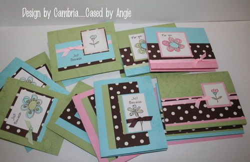 Stampin' Up!, cards, paper crafting, rubber stamping, One Sheet Wonder Technique.    http://www.mychicnscratch.com/2007/04/index.html