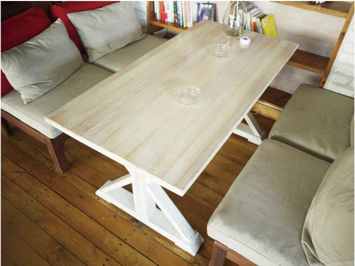 Американский кантри дерево журнальный столик дерево стол стол скамейка железный ретро кофе кафе столы и стулья
