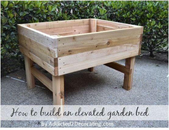 146 best DIY Pots Planters Window Boxes images – Elevated Garden Planter Plans