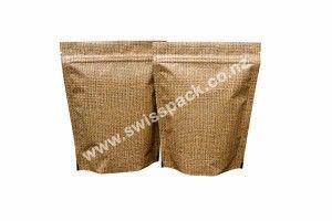 Jute Look High Barrier Bags. Visit http://www.swisspack.co.nz/jute-look-high-barrier-bags/