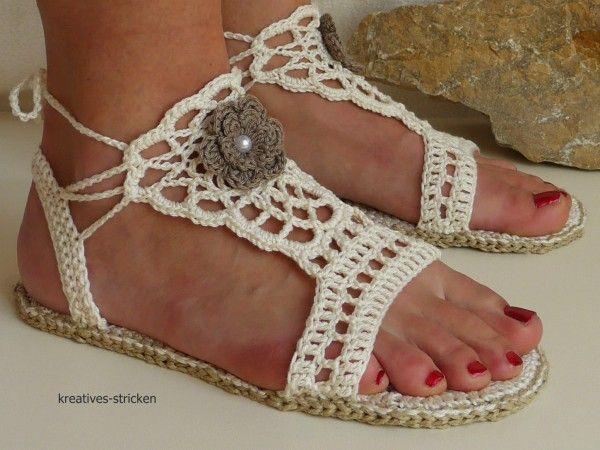 Sandalen häkeln - für drinnen und draußen
