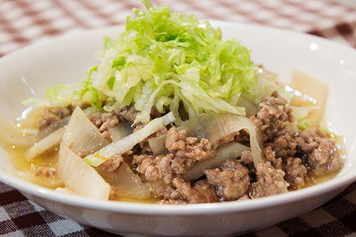 自炊レシピや食べたものの記録です。ときどきうどん県ネタあります。catelog|シンプルな味付けでもおいしい、<br>大根とひき肉の炒め煮。|作ることに意義がある::糧log〈かてろぐ〉::