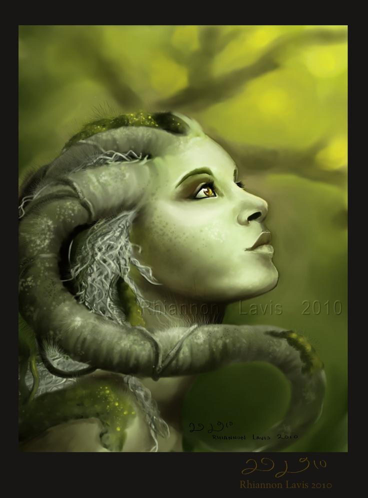 Spirit of the  Rainforest - Artwork by Rhi la Vis (Rhiannon Lavis)  Digital Painting done in Corel Painter X.