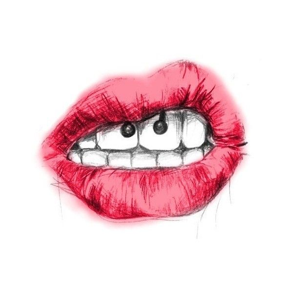 smiley piercing | Tumblr liked on Polyvore | Piercings ...