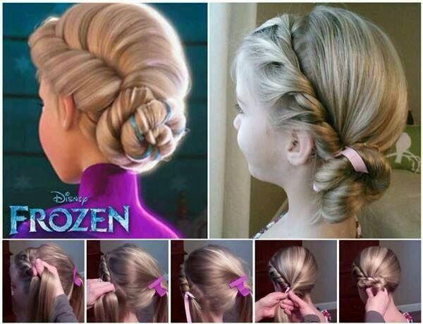 Frozen hair for the girls!