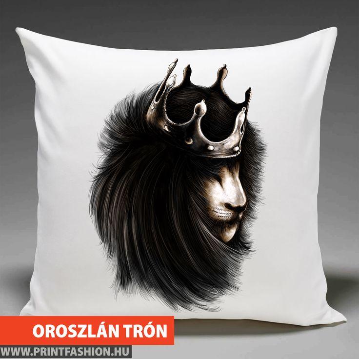 🦁 OROSZLÁN TRÓN 🦁 Egyedi mintás párnahuzat, táska, póló, atléta, pulcsi! WEBSHOP: 👉https://printfashion.hu/mintak/reszletek/oroszlan-tron/parnahuzat-diszparnahuzat/