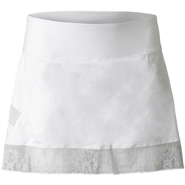 This FILA Women's Marion Bartoli Trophee Performance Skort has a flocking mesh inserts that will keep you cool in the heat of battle. All white reflects the sun and the flounce hem adds a spring in your step. The built-in undershorts will make you feel secure as you stoop to hit that half-volley at your feet. This soft and feminine skort will make you feel like the champion your are.