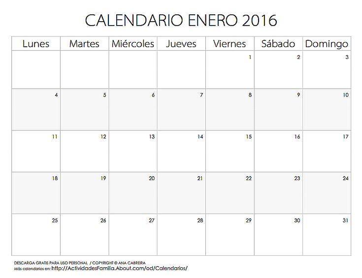 Calendario de celebraciones en Enero 2016