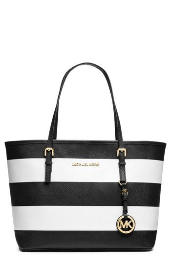 MICHAEL Michael Kors 'Jet Set - Small' Saffiano Leather Travel Tote available at #Nordstrom