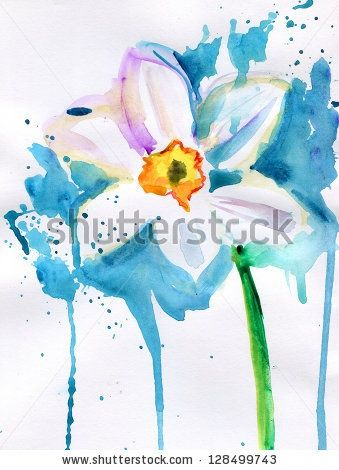 Narcissus watercolor. | Art | Narcissus flower tattoos ...