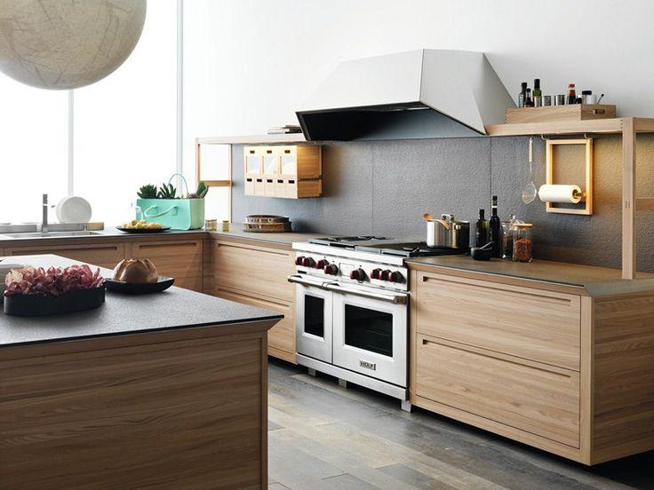 Einbauküche Aus Holz Mit Kücheninsel SineTempore New Mosaic Kollektion  SineTempore By VALCUCINE | Design Gabriele Centazzo | Küche | Pinterest |  Mosaics, ...