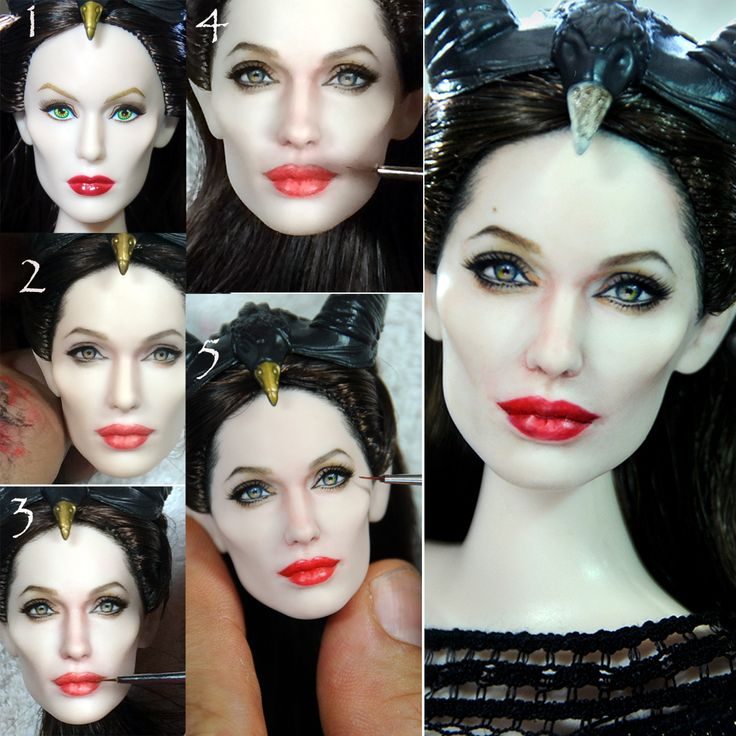 Angelina Jolie Maleficent doll Repaint Process by noeling.deviantart.com on @deviantART