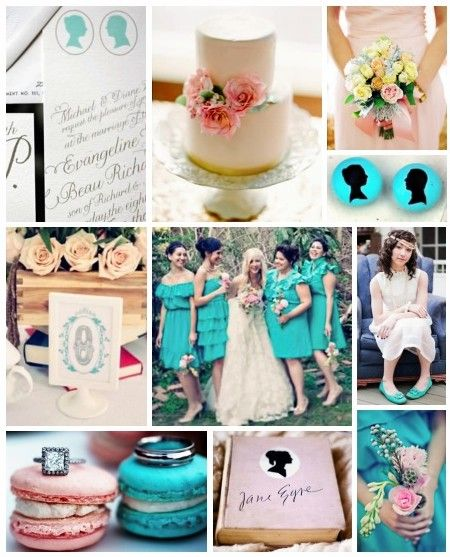 Blush & Turquoise inspired theme - see more inspiration at diyweddingsmag.com #diywedding: Turquoise Blushes Boards, Colour Theme, Idea, Wedding Turquoise, Turquoi Blushes Boards, Turquoi Theme, Pink Turquoise, Wedding Law, Bridal Shower Color