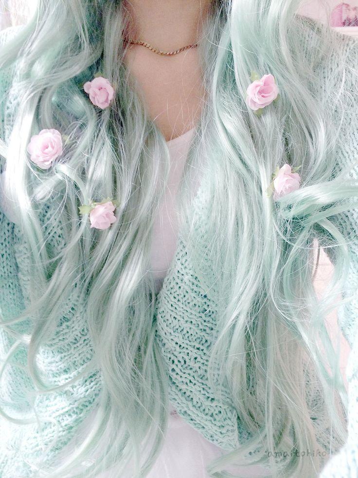 amaitohiko:  I feel like a mermaid.(⑅˘͈ ᵕ ˘͈ )@ricehime