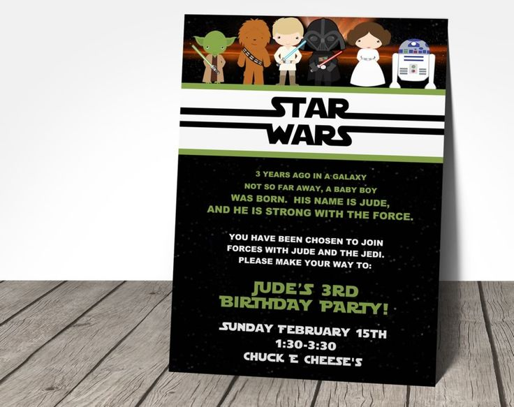 17 meilleures images propos de invitations anniversaire star wars sur pinterest th mes de. Black Bedroom Furniture Sets. Home Design Ideas