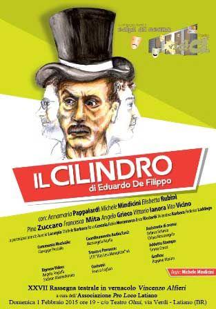 Il Cilindro di Eduardo De Filippo in scena il 1 febbraio 2015 presso il teatro Olmi di #Latiano (Br).