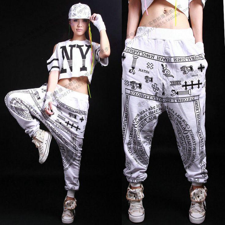 New fashion Brand KTZ Hip Hop Dance pantsbig loose Letter harem Costumes loose casual fashion trend sports trousers $32.85