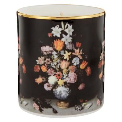 Bosschaert's A Still Life of Flowers Filled Scented Candle