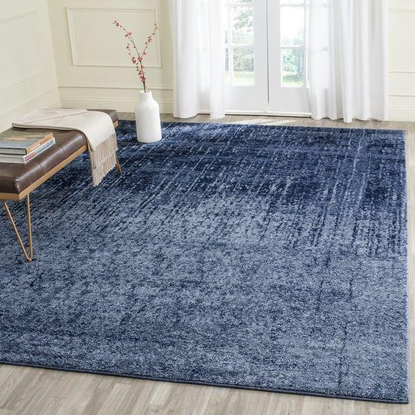 Safavieh Retro Light Blue/ Blue Rug (8' x 10')