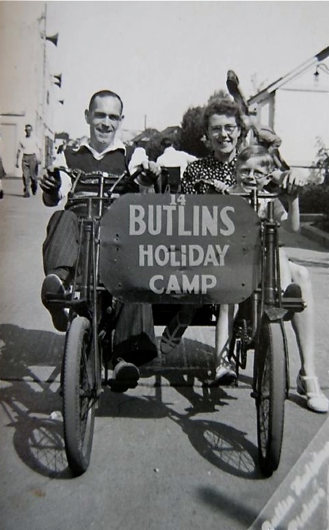 Butlins Holiday Camp! Nan, Grandad and Dad.(previous pinner) Thanks for the great pic