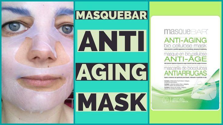 Masque Bar Anti-Aging Bio Cellulose Mask Review & Demo