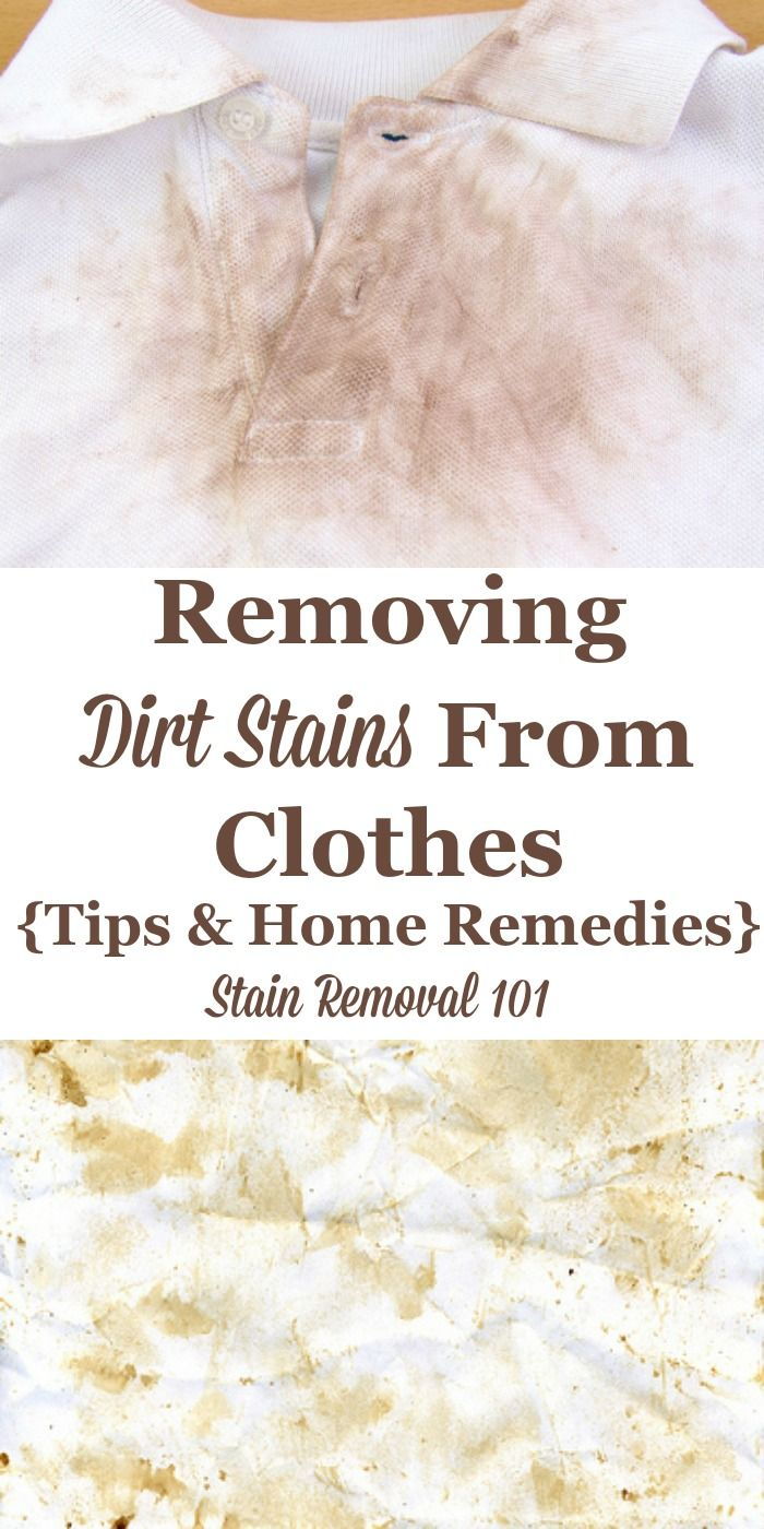 Removing Dirt Stains From Clothes Tips Home Remes