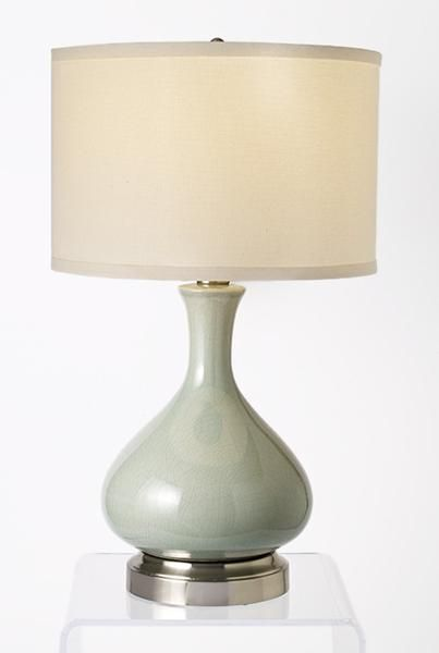 Bartlett Celadon Cordless Lamp   Made In The USA. Battery Operated ...
