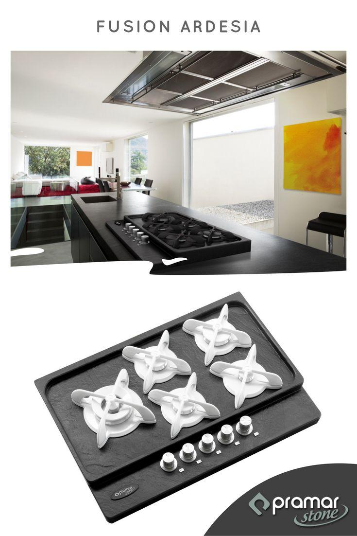 Piano di cottura Fusion in pietra Ardesia by Pramar Stone
