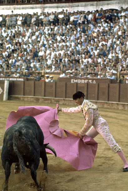 Spanish bullfighter Luis Miguel Dominguin in the ring in Malaga Spain 1960