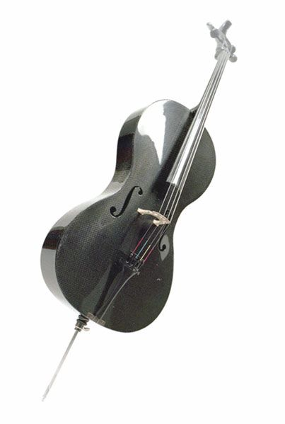 Carbon fiber cello.  -- plays different, but I liked it.  Definitely a different feeling to it!