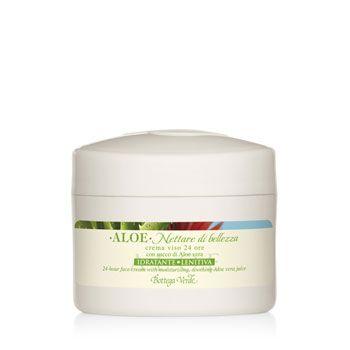Aloe nettare di bellezza -  Crema viso 24 ore con succo di Aloe vera idratante lenitiva (50 ml)