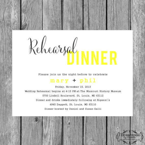 Best Rehearsal Dinner Invites Images On   Invitation