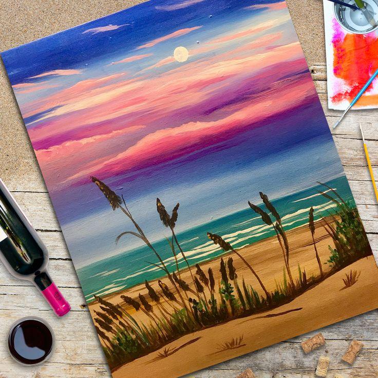 рисунок акриловыми красками поэтапно вяжу основном