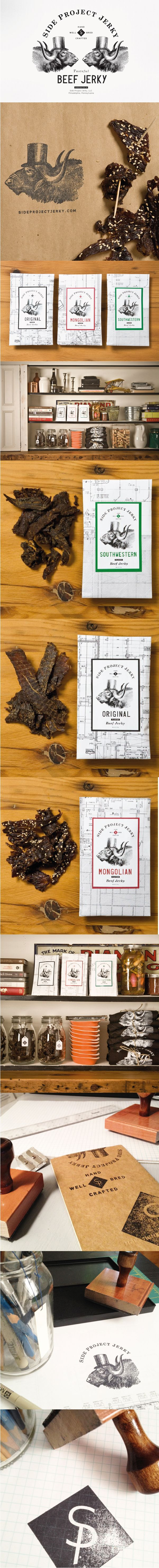 Best Brand Identity Design on the Internet, Side Project Jerky #branding #brandidentity #identitydesign