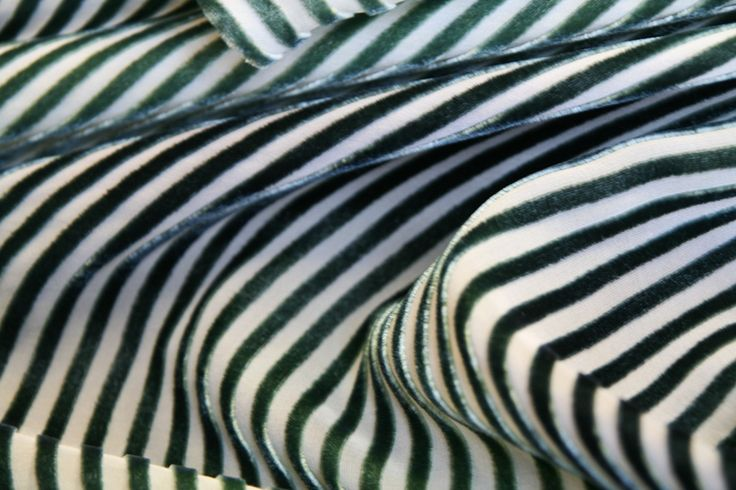 Devore stripe fabric by Charles and Patricia Lester