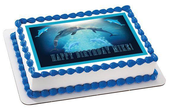 DOLPHIN TALE 2 Edible Birthday Cake Topper OR Cupcake Topper, Decor