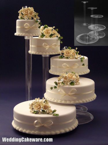 4 tier cascading wedding cake stand stands set best 25 wedding cake stands ideas on wedding 10371